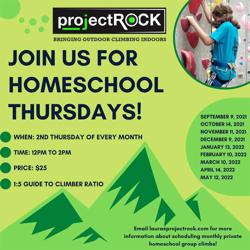 Homeschool Thursdays at projectROCK